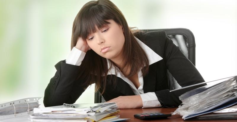 moe op het werk