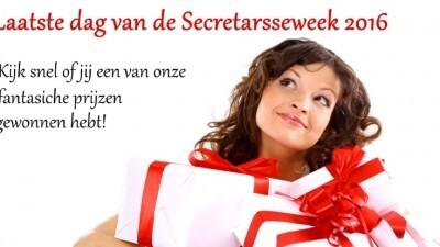 Laatste dag van de Secretaresseweek!