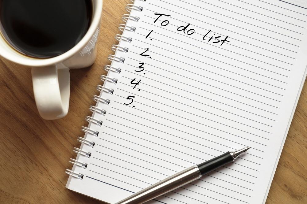 Maak een kleine to-do lijst